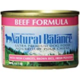 Natural Balance Ultra Premium Beef Canned Dog Formula, Case of 12 Cans/6 Oz