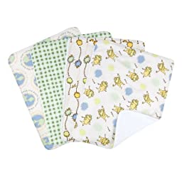 Trend Lab Dr. Seuss The LoraxBurp Cloth Set, Natural, 4-Count