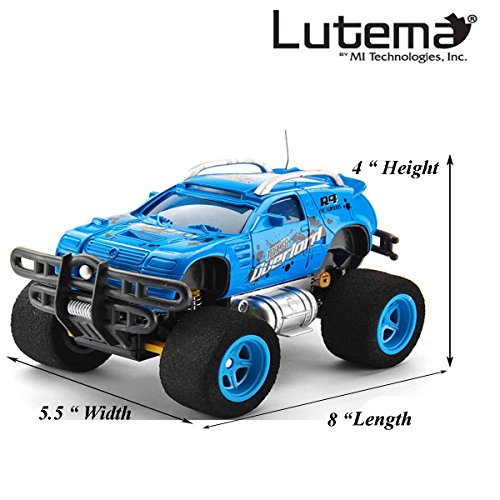 Lutema Tracer Overlord 4CH Remote Control Truck, Blue (Long Range Remote Control Truck compare prices)