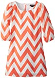 My Michelle Girls 7-16 Chevron Sheath Dress, Coral, 8
