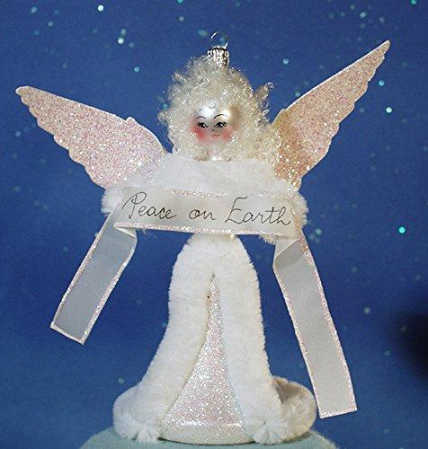 "De Carlini ""Peace on Earth"" Italian Mouthblown Glass Christmas Ornament"