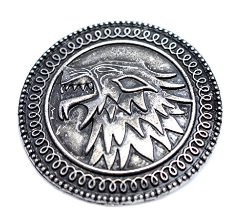 """Beaux Bijoux - Spilla con simbolo della casa Stark del Trono di Spade, """"Song Of Fire And Ice"""""""
