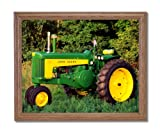 Vintage 1959 John Deere 730 Farm Tractor Wall Picture Oak Framed Art Print