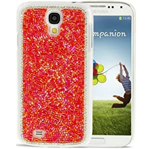 DIY Beaded Style Diamond Encrusted Crystal Case for Samsung Galaxy S4 / i9500 (Red)