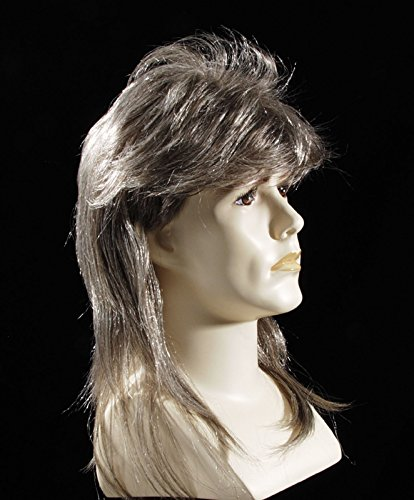 Star Power Blonde Highlighted Redneck Mullet Wig Brown One Size (Adult)