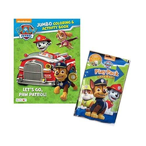 Nickelodeon Paw Patrol Jumbo Coloring & Activity Book Plus Paw Patrol Bonus Grab n Go Activity Play Pack! (Refrigerator Grab N Go compare prices)