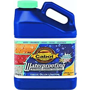 Cabot Waterproofing Sealer Water Based Exterior Crystal Clear 1 Gl Paint Thinners Solvents