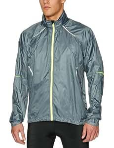 Ronhill Men's Vizion Microlite Jacket - Slate/Flou Yellow, Medium