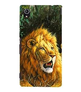 EPICCASE Lion Art Mobile Back Case Cover For Sony Xperia M4 Aqua Dual (Designer Case)