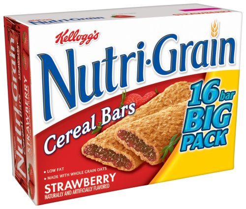 Buy Kellogg's's  Nutri-grain Strawberry Big Pack, 16-Count Box (Pack of 4) (Kellogg's, Health & Personal Care, Products, Food & Snacks, Breakfast Foods)