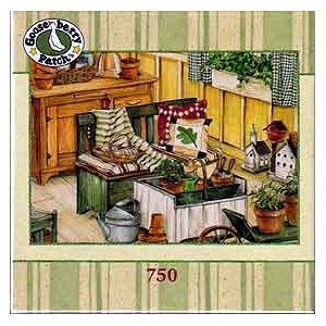 Gooseberry Patch Jigsaw Puzzle - Potting Bench - 1