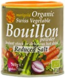 Marigold Organic Bouillon Reduced Salt 140 g (Pack of 6)