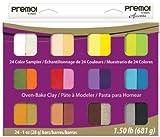 Polyform Premo Clay Sampler Pack 1oz 24/Pkg Assorted Colors