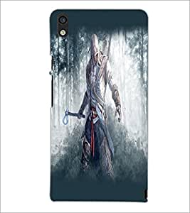 PrintDhaba Warrior D-2146 Back Case Cover for HUAWEI ASCEND P6 (Multi-Coloured)