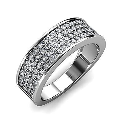 Diamond Men Band 1.51 ct tw in 10K White Gold