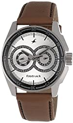 Fastrack Black Magic Analog Silver Dial Mens Watch - NE3089SL07