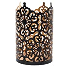 Hosley's Flower Cut Bronze Candle Holder