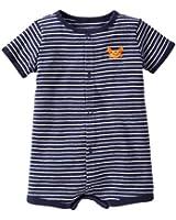 Carter's Baby Boys 1-piece Creeper (6 Months, Navy Stripe)