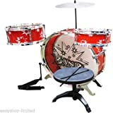 Drum Set Kit Musical Children Kid Studio Big Band Play Set Toy Red/Blue Gift New (Red)