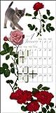 2009猫と花のカレンダー