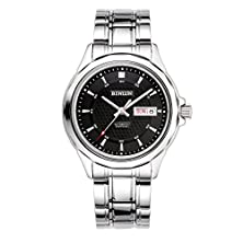 buy Binlun Bl0026B Men'S Analog Display Watch With Day And Date Window -Black