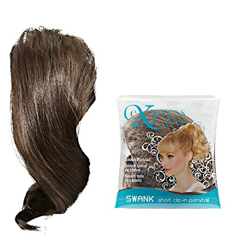 ExpressLocs Ponytail Clip-in Swank Hairpiece Medium Brown (Hair Clips For Locs compare prices)
