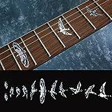 バード(彫金調) ギターに貼る インレイステッカー 048BS-CP