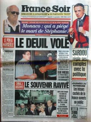 france-soir-no-16207-du-14-09-1996-monaco-affaire-des-photos-de-dd-et-de-sa-strip-teaseuse-stephanie