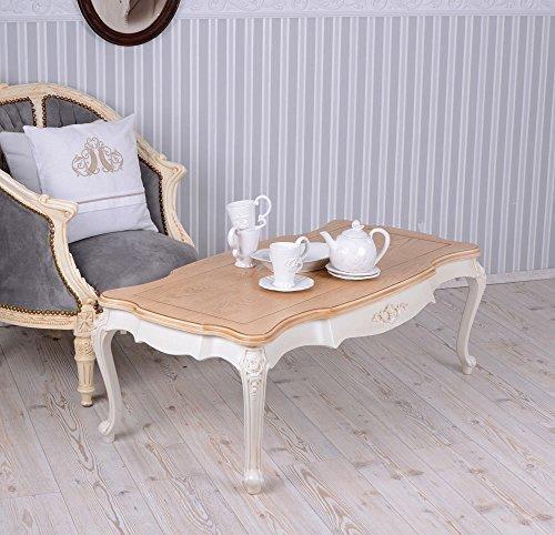 Wohnzimmertisch-Villa-Vintage-Couchtisch-Weiss-Tisch-Shabby-Chic