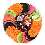 Foamies Halloween Ornament Craft Holiday Party Platter Kit Shapes Include Pumpkins - 486 Pieces