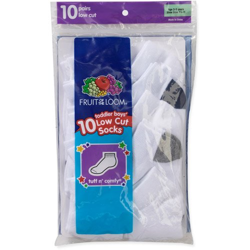 Living Socks Fruit of the Loom Boys Tuff & Comfy Infant Toddler 10 Pair Value Pack Low Cut Socks at Sears.com