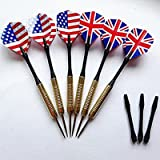 Copper Steel Tip Darts At Toys Games Sporting Goods Of The Game Needle UK & USA National Flag (2pcs UK Flag+2pcs...