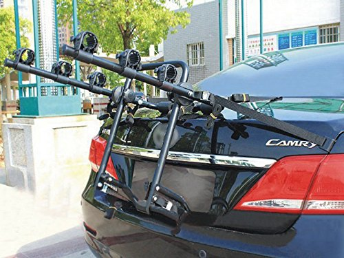 Stone 3 Bike Bicycle Cycle Rack Rear Trunk Mount Hitch Carrier For Car SUV (Wrangler Rear Cargo Rack compare prices)