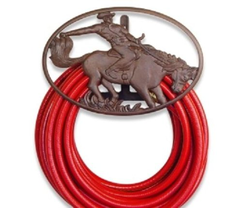 Western Cowboy Horse Garden Hose Reel Hanger Holder