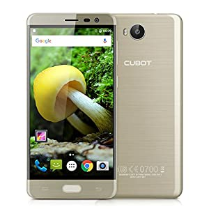 CUBOT Cheetah 2 5.5 Inch IPS FHD Display 4G Smartphone Android 6.0 MT6753 Octa-Core 1.3GHz Mobile phone Dual SIM Dual Standby 3GB RAM + 32GB ROM 16.0MP Back Camera with 3000mAh Battery Cellphone(Gold)