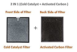 SToK 2 in 1 Activated Carbon + Cold Catalyst Replacement Filter Set for Air Purifier