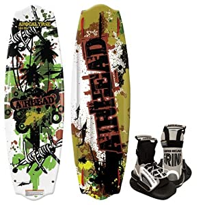Buy AIRHEAD AHW-4016 Apocalypse Wakeboard with Grind Bindings by Airhead