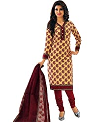 Lady Line Printed Cotton Salwar Kameez Suit Ethnic (Unstitched Dress Material)