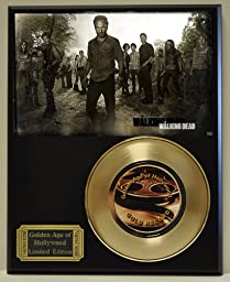 Walking Dead Limited Edition Gold 45 Record Display. Only 500 made. Limited quanities. FREE US SHIPPING