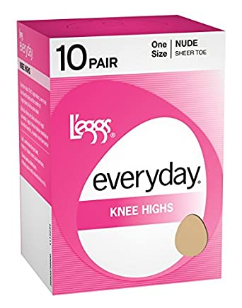 L'eggs Everyday Knee Highs ST 10 Pair, OneSize-Nude