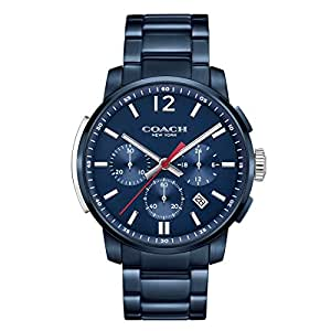 COACH Men's Bleecker Chrono Navy Sandblast Watch