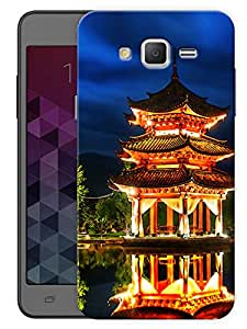 "Humor Gang Old Chinese Monastery Printed Designer Mobile Back Cover For ""Samsung Galaxy j2"" (3D, Matte, Premium Quality Snap On Case)"