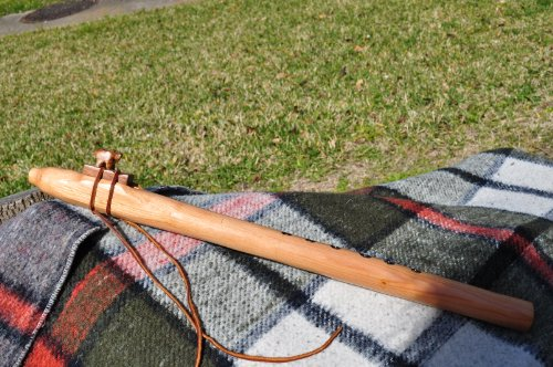Native American Style E scale Cedar wood flute BY CRAZY BEAR