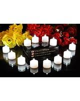 PK Green Lot de 12 bougies / Lumières de Thé à piles, sans flammes, à LED blanche