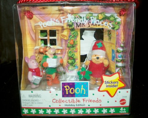 Buy Low Price Mattel Disney's Pooh's Collectible Friendly Places Holiday Edition Figure (B002I9TED0)