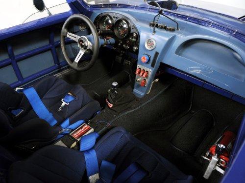 """Classica e pubblicità muscoli e per auto, Chevrolet Corvette Superformance Grand Sport Auto Poster Art Print 10 mil Archival interno di vista, Carta, Blue Interior View, 20"""" x 15"""""""