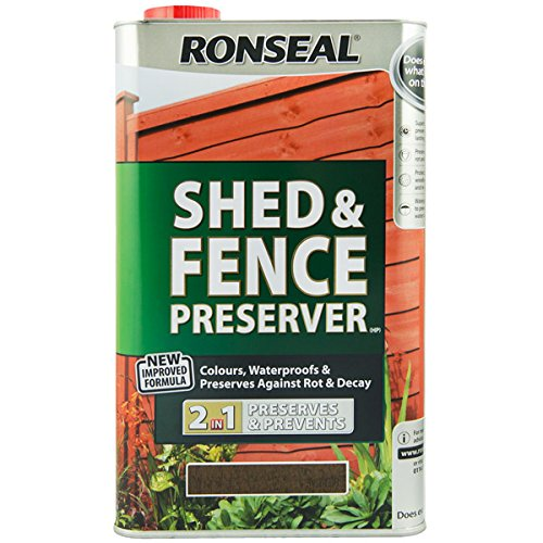 ronseal-sfwplb5l-shed-fence-wood-preservative-light-brown-5-litre