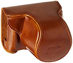 MegaGear 'Ever Ready' Protective Fitted Leather Camera Case , Bag for For Panasonic LUMIX DMC-GM1 with 12-32mm...