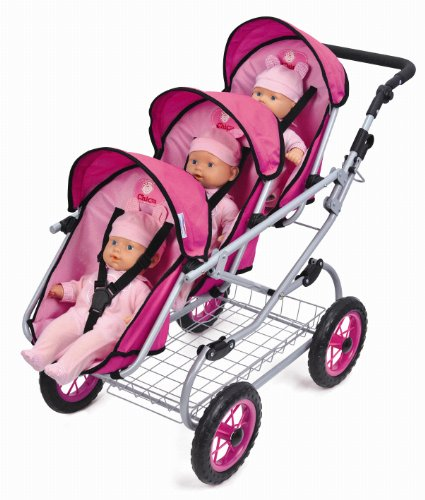 My Sweet Princess TRIPLETS Deluxe Doll Pram W FREE Carriage Bag Review