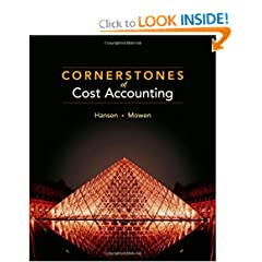 Cornerstones of Cost Accounting (9780538736787)